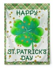 "Shamrock Happy Patrick's Day 29.5""x39.5"" House Flag front"