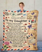 "Inside This Blanket Mom To Daughter Fleece Blanket - 50"" x 60"" aos-coral-fleece-blanket-50x60-lifestyle-front-01"