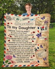 """Inside This Blanket Mom To Daughter Fleece Blanket - 50"""" x 60"""" aos-coral-fleece-blanket-50x60-lifestyle-front-01a"""