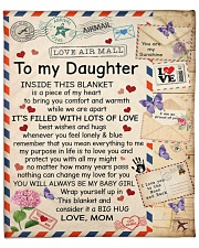 "Inside This Blanket Mom To Daughter Fleece Blanket - 50"" x 60"" front"