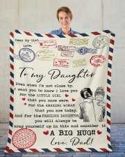 """Even When I'm Not Close By Dad To Daughter Fleece Blanket - 50"""" x 60"""" aos-coral-fleece-blanket-50x60-lifestyle-front-01"""