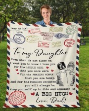 """Even When I'm Not Close By Dad To Daughter Fleece Blanket - 50"""" x 60"""" aos-coral-fleece-blanket-50x60-lifestyle-front-01a"""