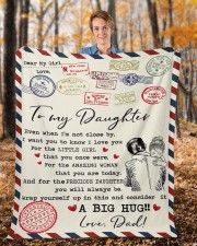"""Even When I'm Not Close By Dad To Daughter Fleece Blanket - 50"""" x 60"""" aos-coral-fleece-blanket-50x60-lifestyle-front-01b"""