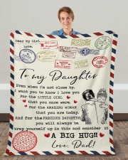"""Even When I'm Not Close By Dad To Daughter Fleece Blanket - 50"""" x 60"""" aos-coral-fleece-blanket-50x60-lifestyle-front-01c"""