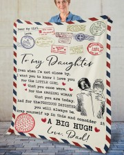 """Even When I'm Not Close By Dad To Daughter Fleece Blanket - 50"""" x 60"""" aos-coral-fleece-blanket-50x60-lifestyle-front-02"""