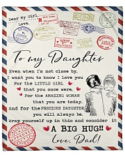 """Even When I'm Not Close By Dad To Daughter Fleece Blanket - 50"""" x 60"""" front"""