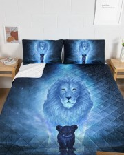 Lion King and Son Queen Quilt Bed Set aos-queen-quilt-bed-set-lifestyle-front-05a