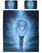 Lion King and Son Queen Quilt Bed Set front