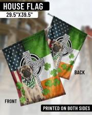 """Dog Irish Shamrock  29.5""""x39.5"""" House Flag aos-house-flag-29-5-x-39-5-ghosted-lifestyle-02"""