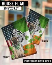 """Dog Irish Shamrock  29.5""""x39.5"""" House Flag aos-house-flag-29-5-x-39-5-ghosted-lifestyle-07"""