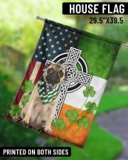 """Dog Irish Shamrock  29.5""""x39.5"""" House Flag aos-house-flag-29-5-x-39-5-ghosted-lifestyle-13"""