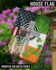 """Dog Irish Shamrock  29.5""""x39.5"""" House Flag aos-house-flag-29-5-x-39-5-ghosted-lifestyle-14"""