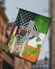"""Dog Irish Shamrock  29.5""""x39.5"""" House Flag aos-house-flag-29-5-x-39-5-ghosted-lifestyle-15"""
