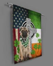 """Dog Irish Shamrock  29.5""""x39.5"""" House Flag aos-house-flag-29-5-x-39-5-ghosted-lifestyle-18"""
