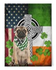 """Dog Irish Shamrock  29.5""""x39.5"""" House Flag front"""