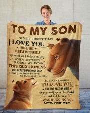 """Never Forget That I Love You Lion Mom To Son Fleece Blanket - 50"""" x 60"""" aos-coral-fleece-blanket-50x60-lifestyle-front-01"""
