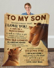 """Never Forget That I Love You Lion Mom To Son Fleece Blanket - 50"""" x 60"""" aos-coral-fleece-blanket-50x60-lifestyle-front-01c"""