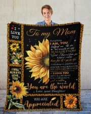 """Everything I'm You HelpedMe To Be Daughter To Mom Fleece Blanket - 50"""" x 60"""" aos-coral-fleece-blanket-50x60-lifestyle-front-01"""