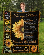 """Everything I'm You HelpedMe To Be Daughter To Mom Fleece Blanket - 50"""" x 60"""" aos-coral-fleece-blanket-50x60-lifestyle-front-01a"""