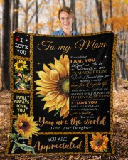 """Everything I'm You HelpedMe To Be Daughter To Mom Fleece Blanket - 50"""" x 60"""" aos-coral-fleece-blanket-50x60-lifestyle-front-01b"""
