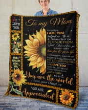 """Everything I'm You HelpedMe To Be Daughter To Mom Fleece Blanket - 50"""" x 60"""" aos-coral-fleece-blanket-50x60-lifestyle-front-02"""