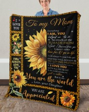 """Everything I'm You HelpedMe To Be Daughter To Mom Fleece Blanket - 50"""" x 60"""" aos-coral-fleece-blanket-50x60-lifestyle-front-02a"""