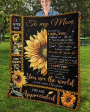 """Everything I'm You HelpedMe To Be Daughter To Mom Fleece Blanket - 50"""" x 60"""" aos-coral-fleece-blanket-50x60-lifestyle-front-02b"""