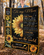 """Everything I'm You HelpedMe To Be Daughter To Mom Fleece Blanket - 50"""" x 60"""" aos-coral-fleece-blanket-50x60-lifestyle-front-02c"""