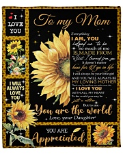 """Everything I'm You HelpedMe To Be Daughter To Mom Fleece Blanket - 50"""" x 60"""" front"""