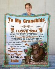 """Personalized Never Forget I Love You To Grandkids Fleece Blanket - 50"""" x 60"""" aos-coral-fleece-blanket-50x60-lifestyle-front-01"""