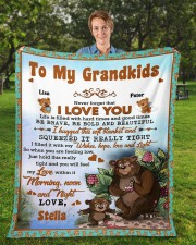 """Personalized Never Forget I Love You To Grandkids Fleece Blanket - 50"""" x 60"""" aos-coral-fleece-blanket-50x60-lifestyle-front-01a"""