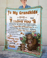 """Personalized Never Forget I Love You To Grandkids Fleece Blanket - 50"""" x 60"""" aos-coral-fleece-blanket-50x60-lifestyle-front-02"""