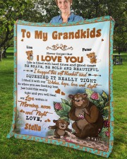 """Personalized Never Forget I Love You To Grandkids Fleece Blanket - 50"""" x 60"""" aos-coral-fleece-blanket-50x60-lifestyle-front-02b"""