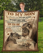 """Never Feel That You Are Alone Dad To Son  Fleece Blanket - 50"""" x 60"""" aos-coral-fleece-blanket-50x60-lifestyle-front-01a"""