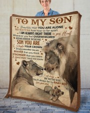 """Never Feel That You Are Alone Dad To Son  Fleece Blanket - 50"""" x 60"""" aos-coral-fleece-blanket-50x60-lifestyle-front-02"""
