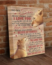Never Forget That I Love U Lion Mom To Son 11x14 Gallery Wrapped Canvas Prints aos-canvas-pgw-11x14-lifestyle-front-09