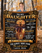 """I Want U To Believe In Your Heart Mom To Daughter Fleece Blanket - 50"""" x 60"""" aos-coral-fleece-blanket-50x60-lifestyle-front-01b"""