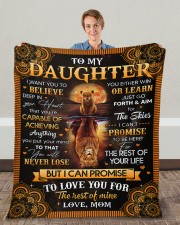 """I Want U To Believe In Your Heart Mom To Daughter Fleece Blanket - 50"""" x 60"""" aos-coral-fleece-blanket-50x60-lifestyle-front-01c"""