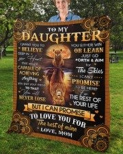 """I Want U To Believe In Your Heart Mom To Daughter Fleece Blanket - 50"""" x 60"""" aos-coral-fleece-blanket-50x60-lifestyle-front-02b"""