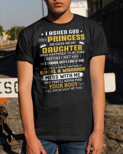 I Ask God For Princess He Gave Me Daughter To Dad Classic T-Shirt apparel-classic-tshirt-lifestyle-29