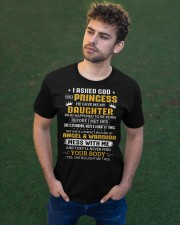 I Ask God For Princess He Gave Me Daughter To Dad Classic T-Shirt apparel-classic-tshirt-lifestyle-front-43