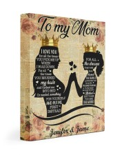 Daughter To Mom I Love U For All Times Custom Name 11x14 Gallery Wrapped Canvas Prints front