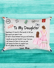 Sometimes It's Hard To Find Words Mom To Daughter Rectangular Pillowcase aos-pillow-rectangle-front-lifestyle-5