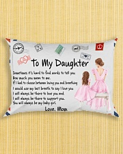 Sometimes It's Hard To Find Words Mom To Daughter Rectangular Pillowcase aos-pillow-rectangle-front-lifestyle-6