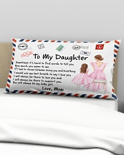 Sometimes It's Hard To Find Words Mom To Daughter Rectangular Pillowcase aos-pillow-rectangular-front-lifestyle-01