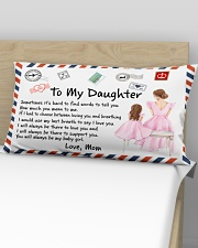 Sometimes It's Hard To Find Words Mom To Daughter Rectangular Pillowcase aos-pillow-rectangular-front-lifestyle-02