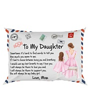 Sometimes It's Hard To Find Words Mom To Daughter Rectangular Pillowcase front