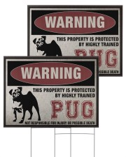 PUG dog this property is protected 24x18 Yard Sign aos-yard-sign-24x18-ghosted-front-03