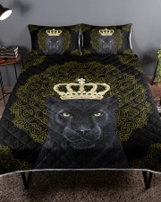 King Panther Art Queen Quilt Bed Set aos-queen-quilt-bed-set-lifestyle-front-01a