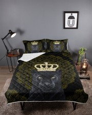 King Panther Art Queen Quilt Bed Set aos-queen-quilt-bed-set-lifestyle-front-02